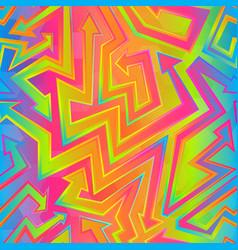 rainbow color arrow pattern vector image