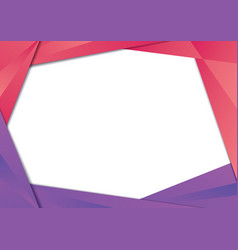 red and purple triangle frame border vector image