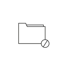 Restricted folder icon vector