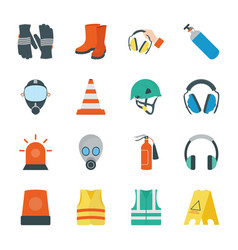 safety equipment icons vector image