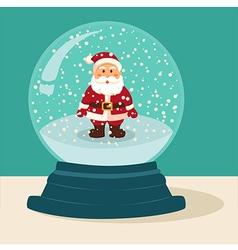 Santa Snow Ball vector image