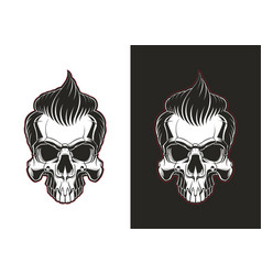 Skull with hair vector