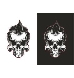Skull with hair vector