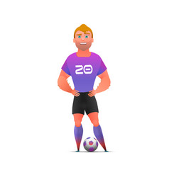 soccer football player standing full length vector image