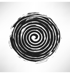 Spiral grunge pattern vector