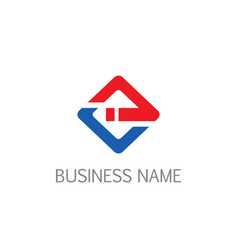 square line business company logo vector image