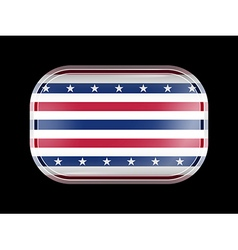 Stars and Stripes Flag Rectangular Shape vector image
