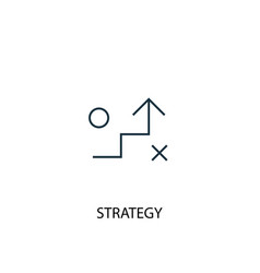 strategy concept line icon simple element vector image