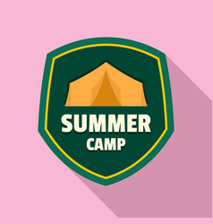summer camp tent logo flat style vector image