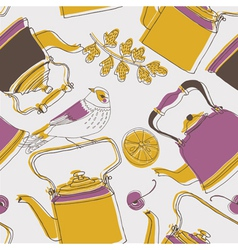 tea kettle wallpaper vector image