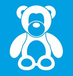 teddy bear icon white vector image