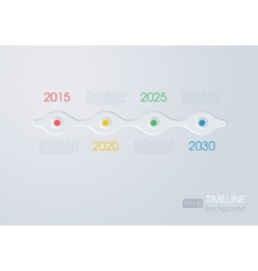 Timeline infographic design on a grey background vector image