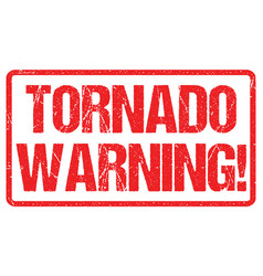 tornado warning sign weather alert typo header vector image