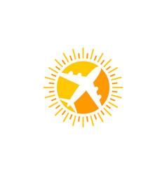 travel sun logo icon design vector image