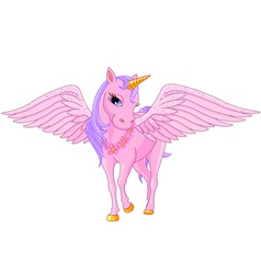 Unicorn Pegasus vector image