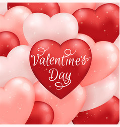valentine card with balloons vector image