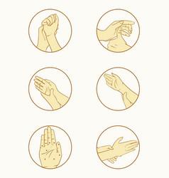 variety reflexology treatment icons vector image