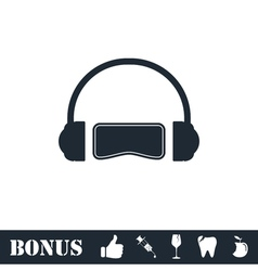 Virtual reality icon flat vector