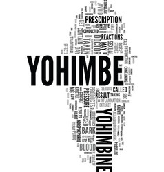 Yohimbe text word cloud concept vector