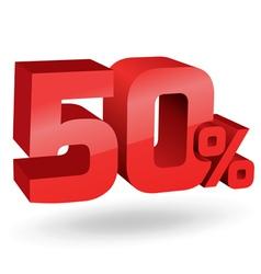 50 percent digits vector image vector image