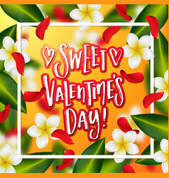 hand drawn calligraphy sweet valentines day vector image vector image