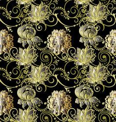 Luxury floral vintage seamless pattern vector image