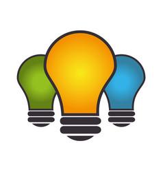 bulb light education icon vector image