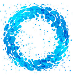 circle water splash vector image vector image