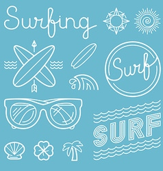 set of surfing logos vector image