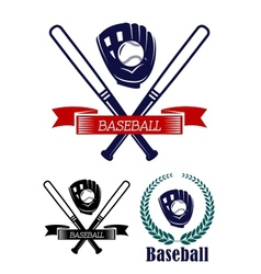 Baseball banners set vector image vector image