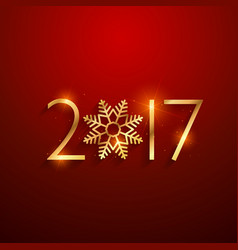 beautiful 2017 text in golden color with vector image vector image