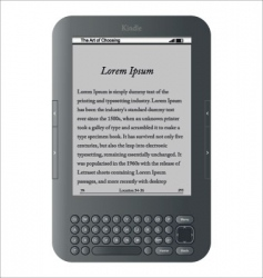 kindle wireless reading device vector image vector image