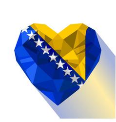 Logo symbol of love bosnia and herzegovina vector