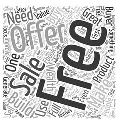 The Power Of A Free Offer text background vector image vector image