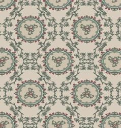 Vintage floral background pattern vector image