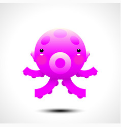adorable octopus character vector image vector image