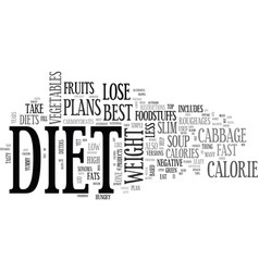 best diets to lose weight text word cloud concept vector image