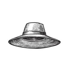 Hat of gardener Sketch vector image vector image