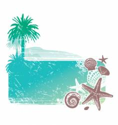 tropical landscape and sea vector image vector image