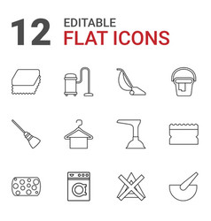 12 household icons vector