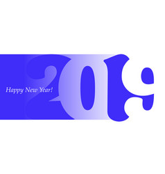 2019 blue vector image