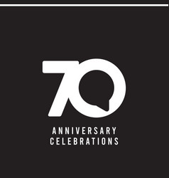 70 years anniversary celebrations template design vector