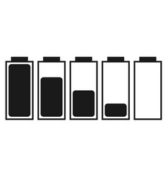 a set of five batteries vector image