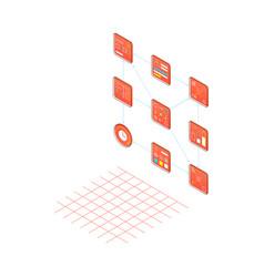 analysis web project isometric style vector image