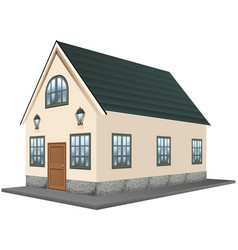 architecture design for single house vector image