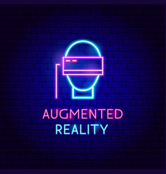 Augmented reality neon label vector