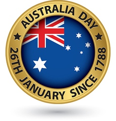 Australia Day gold label vector