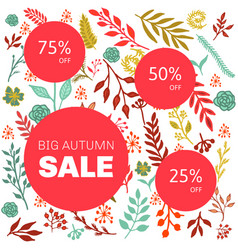 autumn sale floral pattern vector image