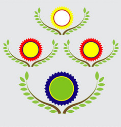 banner and labels with leaf vector image