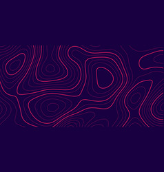 Banner with topography contour design vector